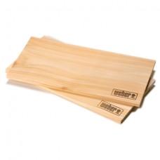 Udící prkénka z cedrového dřeva Weber 2 ks